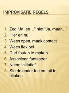 Improvisatie regels